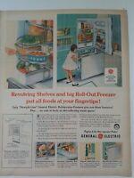1958 General Electric Refrigerator Aqua Pyrex snowflake dish vintage ad