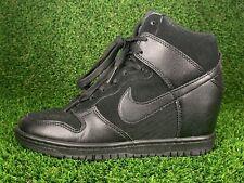 Nike Dunk Sky Hi Women's Triple Black Hidden Wedge 528899-004 Sz 6