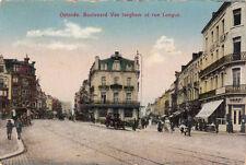 CPA BELGIQUE BELGIUM OSTENDE boulevard van iseghem et rue longue