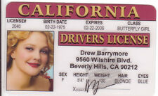 Drew Barrymore of E.T. Charlie's Angels Cinderella EVER AFTER Drivers License