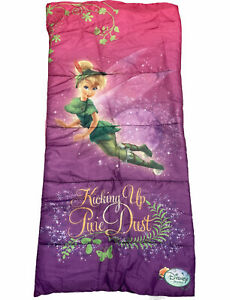 GUC Disney Tinkerbell Girls Sleeping Bag Camping Slumber Fairy Pixie Dust