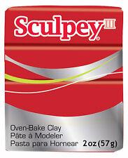 Sculpey III Poppy Oven Bake Polymer Clay 2oz 57g Polyform