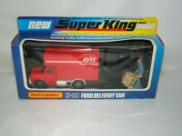 B16 Vintage Matchbox Super Kings K-29 Ford Delivery Van AVIS- New- 1977 Lesney
