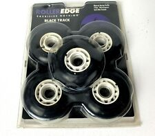 Roller Edge Black Track Inline Skate Wheels Roller Edge 77mm 78a Set of Five NEW