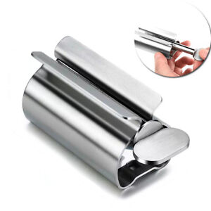 Rolling Toothpaste Tube Squeezer Stainless Steel Easy Dispenser Squeeze Holder
