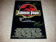 "JURASSIC PARK MOVIE CAST x4 PP SIGNED 12""X8"" A4 PHOTO POSTER SAM NEILL"