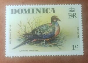 GM115 Dominica  Mourning Dove, 1c MNH STAMP