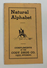 NATURAL ALPHABET PROMOTIONAL BROCHURE CODY DRUGSTORE WYOMING 1930s
