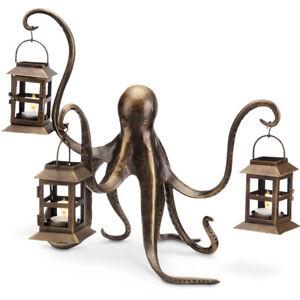 SPI Aluminum Octopus Candle Lantern