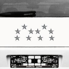 10 Klebesterne 5cm silber Sterne Auto Fenster Aufkleber Tattoo die cut Dekofolie