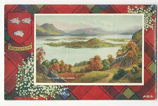 Scotland - The Islands, Loch Lomond - Robertson Tartan - Vintage postcard