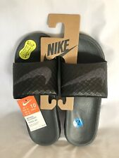 NIKE Mens Benassi Solarsoft Slide Sandal Grey/Black Size 10