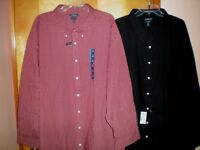 NWT NEW mens size 22 CROFT & BARROW easy care dress shirt l/s free shipping