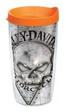 Harley-Davidson Willie G Skull Rivets Tervis Tumbler w/Orange Lid, 16oz. 1287274
