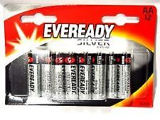 12 Pack EVEREADY AA R6 Alkaline High Power Silver Batteries 1.5 Volt
