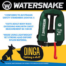 Watersnake Green Inflatable PFD Life Jacket Adult Level 150 Manual