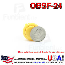 Sanwa OBSF-24 - YELLOW Momentary  Push Button JAMMA guitar killswitch 24mm MAME