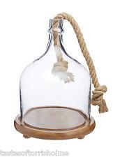 Artesa Wood & Glass Dome Food Cloche Buffet Centrepiece Serving Display Platter