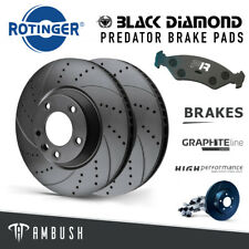 Fits BMW M3 E46 Drilled & Grooved Front Brake Discs Vented 325mm + Upgraded Pads