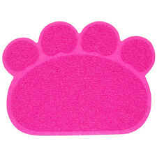 Hot Pink Paw Print Dog Cat Litter Tray Mat Kitty Pet Puppy Bowl Tray Tidy Clean