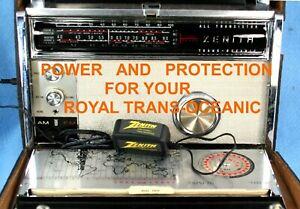 ZENITH  TRANS-OCEANIC, Royal 1000-1, 2000-1, 3000-1, Royal 94  NEW  AC ADAPTER.