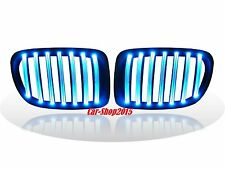 Front Kidney Grille Matte Black With BLUE LED For BMW E84 X1 5DR SUV 2009-2014