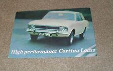 Lotus Cortina Mk2 Brochure 1967-1968