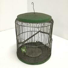 Vintage Green Metal Bird Cage # 209