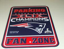 NFL New England Patriots Super Bowl 49 XLIX Champions Reserved Parking Sign Wall