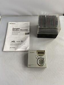 Sony MZ-N510 Net MD Walkman Type-S Portable Minidisc Recorder With Used Discs