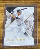 2019 Topps x Tatis Jr. Card of Aaron Judge Baseball Nicknames All Rise #N7
