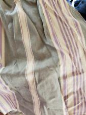 Ralph Lauren Chaps BRITTANY QUEEN BEDSKIRT DUST RUFFLE GREEN PURPLE TAN STRIPED