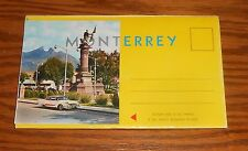 Monterrey Mexico Postcards Lot of 7 in Booklet 50s Vintage