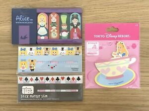 Alice In Wonderland Girl Of All Work Page Flags Stick Markers Tokyo Disney Memo