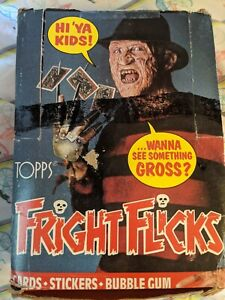 1988 Topps Fright Flicks Trading Cards Box 35/36 Sealed Wax Packs