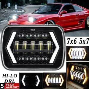 "TOP 5x7"" 7x6'' LED Headlight Hi-Lo Beam DRL For Ford F250 350 450 550 Super Duty"