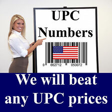 1000 UPC Numbers UPC Barcodes UPC Bar Code UPC Number Labels for Amazon US UK EU