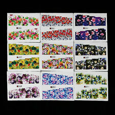 50 Sheet Nail Art Flower Sticker Water Transfer Decals Decoration