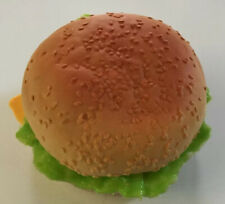 REALISTIC FAUX FAKE PLAY FOOD Cheeseburger Hamburger DISPLAY STAGE PROP Lettuce