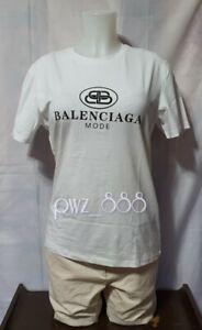 BALENCIAGA White T-Shirt Size L on tag