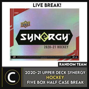 2020-21 UPPER DECK SYNERGY HOCKEY 5 BOX (HALF CASE) BREAK #H1038 - RANDOM TEAMS