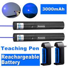 2pack Assassin 1mw 900miles Blue Purple 405nm Beam Laser Pointer Penbattchar