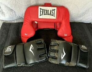 Everlast Boxing Advanced Everhide Training Head Gear, Red Adult  One Size LOT