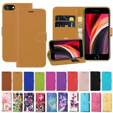For Apple iPhone SE 2020 PU Leather Magnetic Wallet  Flip Stand Phone Case Cover