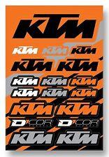 D'COR KTM Decal Sheet Thick Vinyl MotoX Dirt Bike Supercross Racing