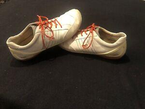 ⛳️ Ecco Biom Natural Motion Golf Shoes Size 10-10.5 US Sz 44 Euro White & Orange