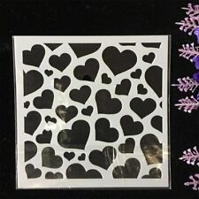 Heart Wall Template Painting Stencil Scrapbook Coloring Tool DIY Design Love