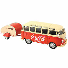 COCA COLA 1962 VOLKSWAGEN KOMBI SAMBA WITH TRAILER SCALE 1/43 DIECAST NEW