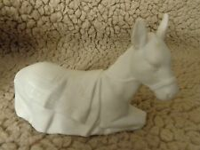Vintage 1984 Avon Nativity Collectibles the donkey porcelain figurine,christmas
