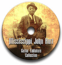 MISSISSIPPI JOHN HURT BLUES CHITARRA INTAVOLATURE CANTO BOOK CD SOFTWARE